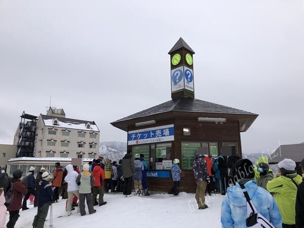 岩原スキー場 リフト券売場